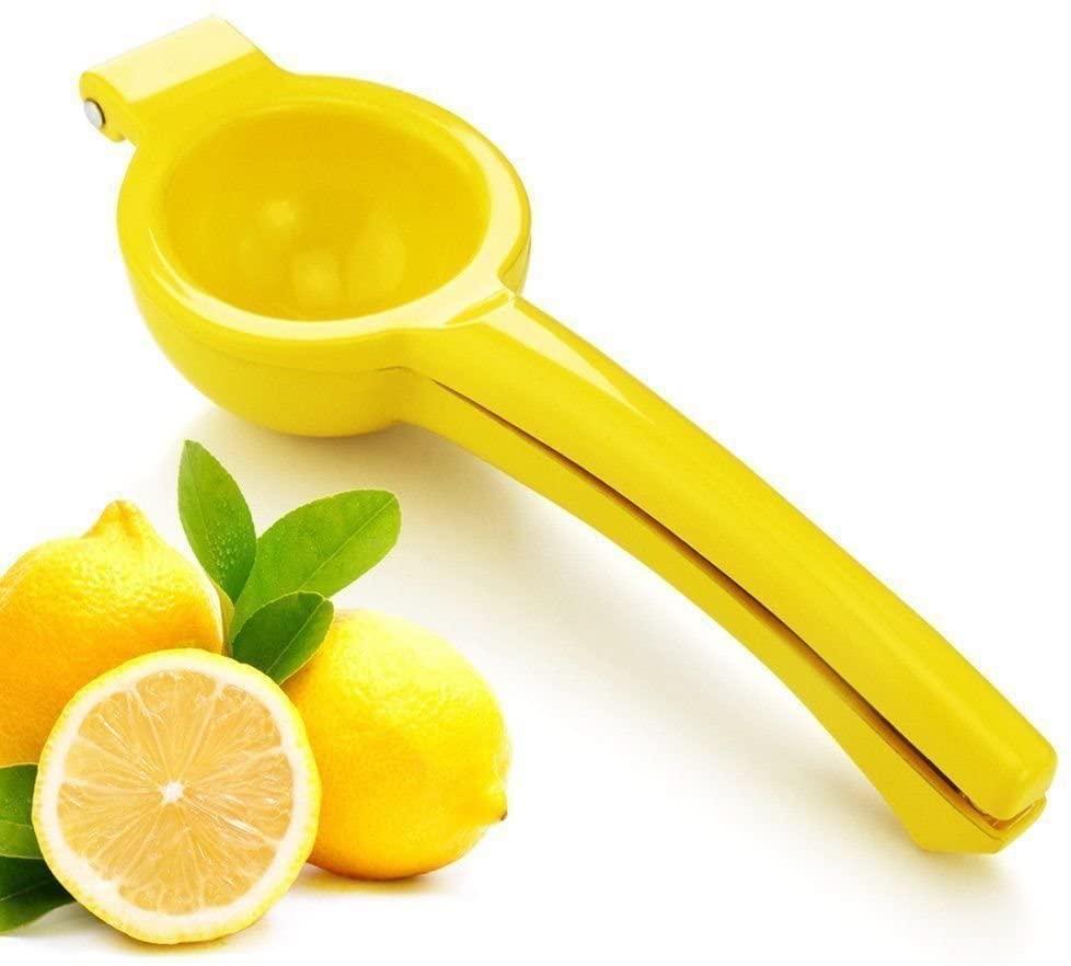 New Star FoodService Yellow Lemon Aluminum Squeezer