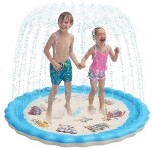 Sable Splash Pad, Sprinkler, and a wading pool