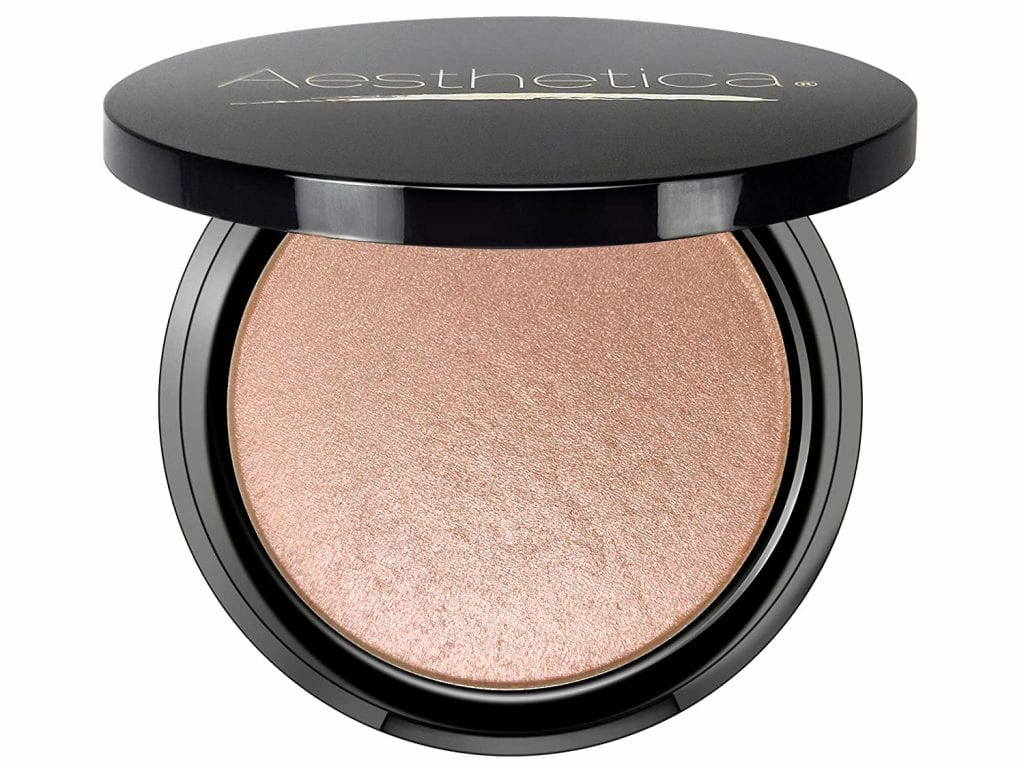 Aesthetica Cosmos Metallic Sparkling Rose Make up Highlighter Powder