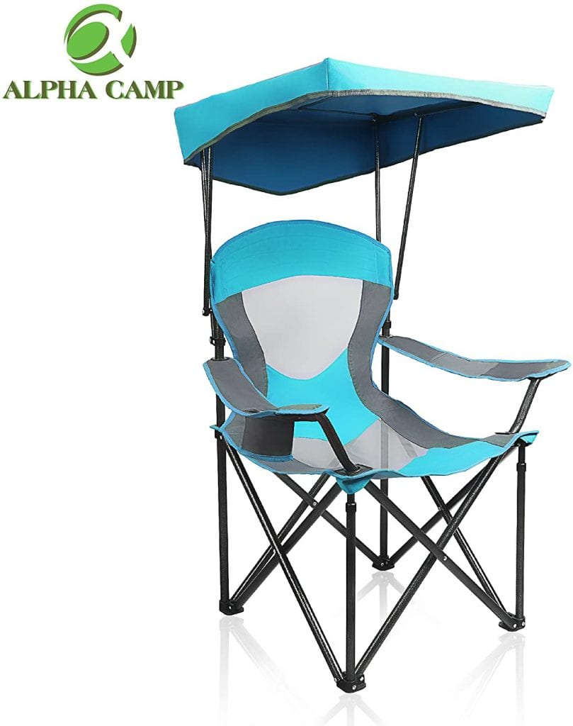 Alpha Camp Hiking Sunshade Travelling Canopy Chair