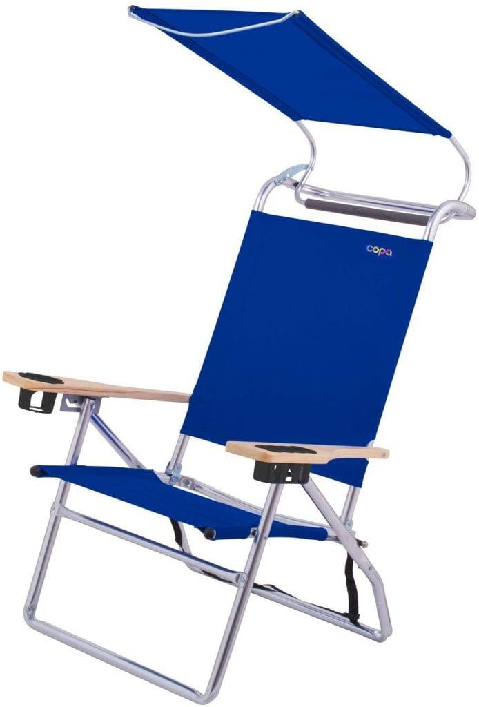 Copa Big Lightweight Portable Aluminium Canopy Blue Chair