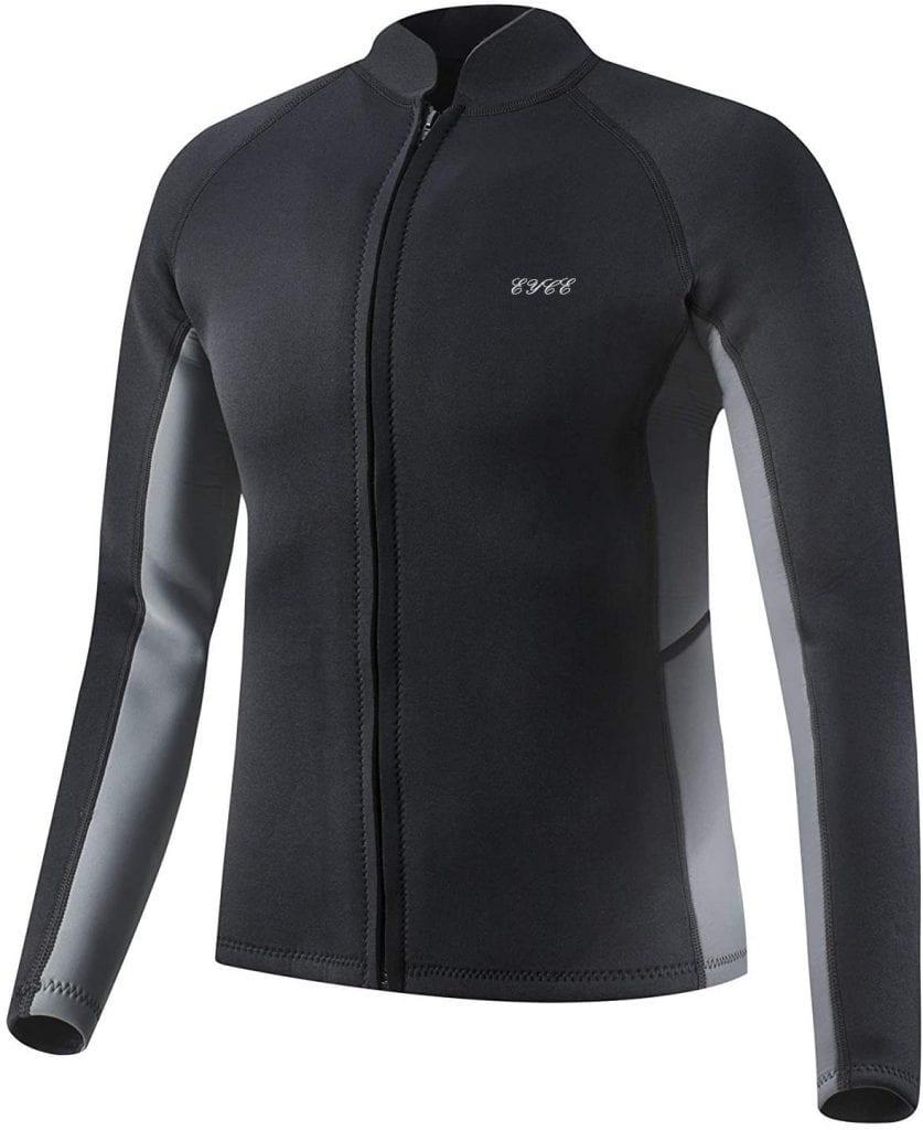 EYCE Long Sleeve Top Men Wetsuit 3mm Black N Grey Jacket
