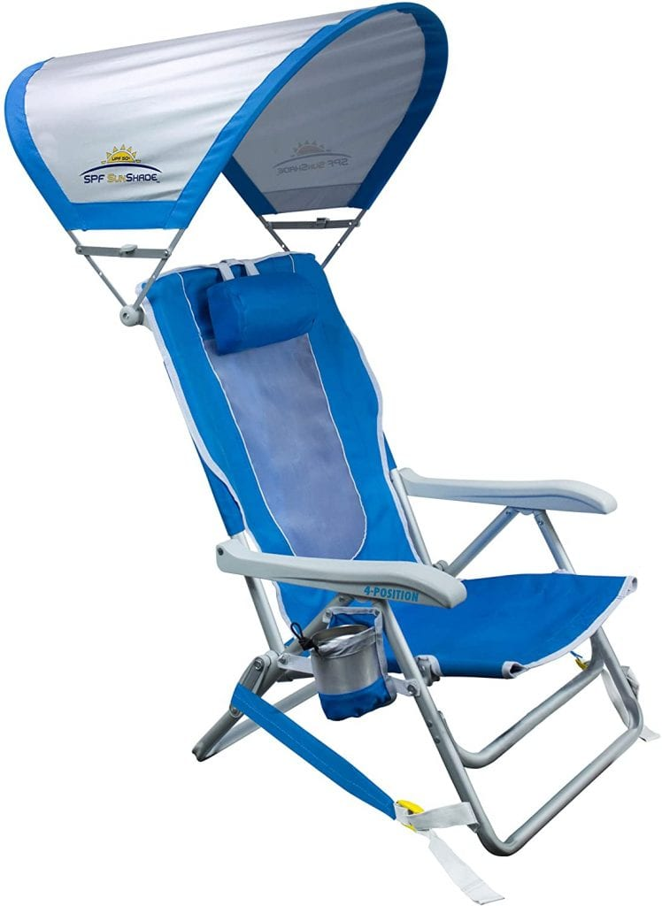 GCI Outdoor Recycling Waterside Chair Backpack With Sunshade