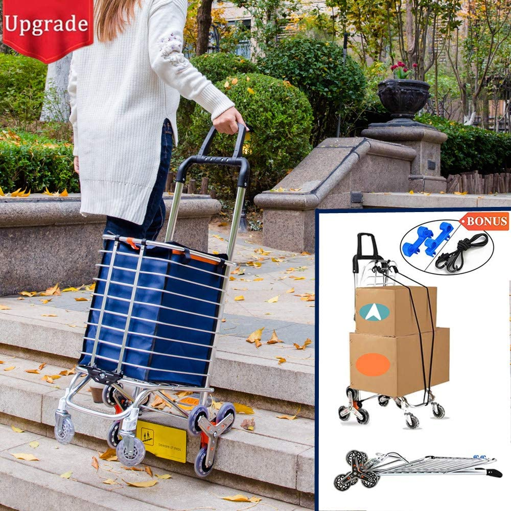 Hereinway Utility Stair Climbing Trolley with Removable Canvas Bag