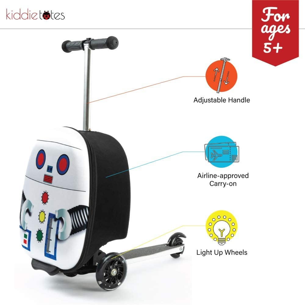 "Kiddietotes 19"" Hardshell Carry-on Scooter Suitcase"