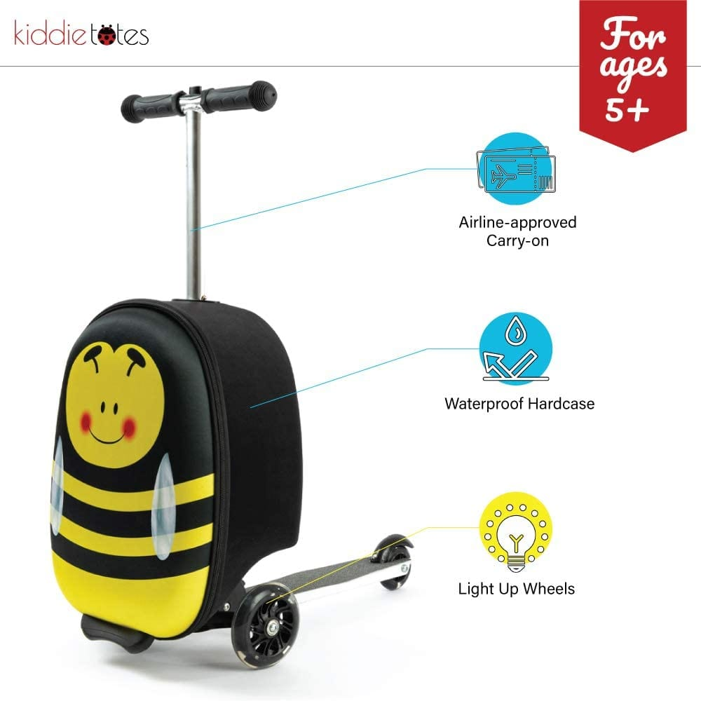 Kiddietotes Hardshell Carry-on Scooter Suitcase