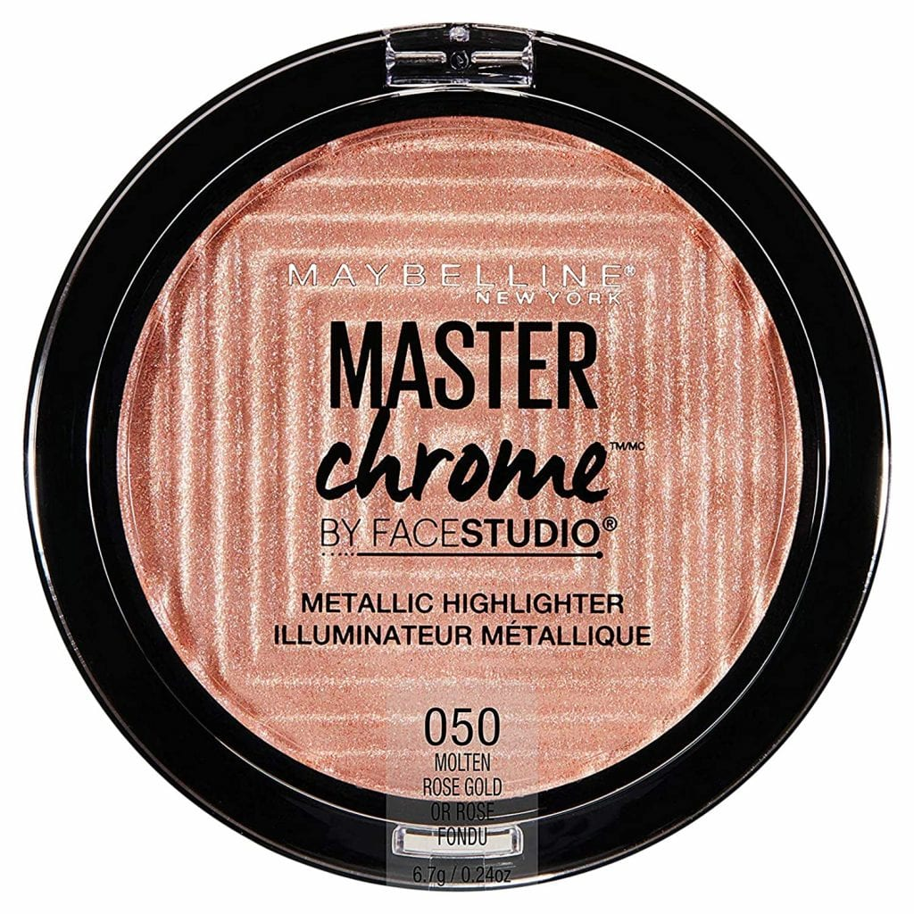 Maybelline New York Chrome Molten Rose Gold Face Studio Highlighter