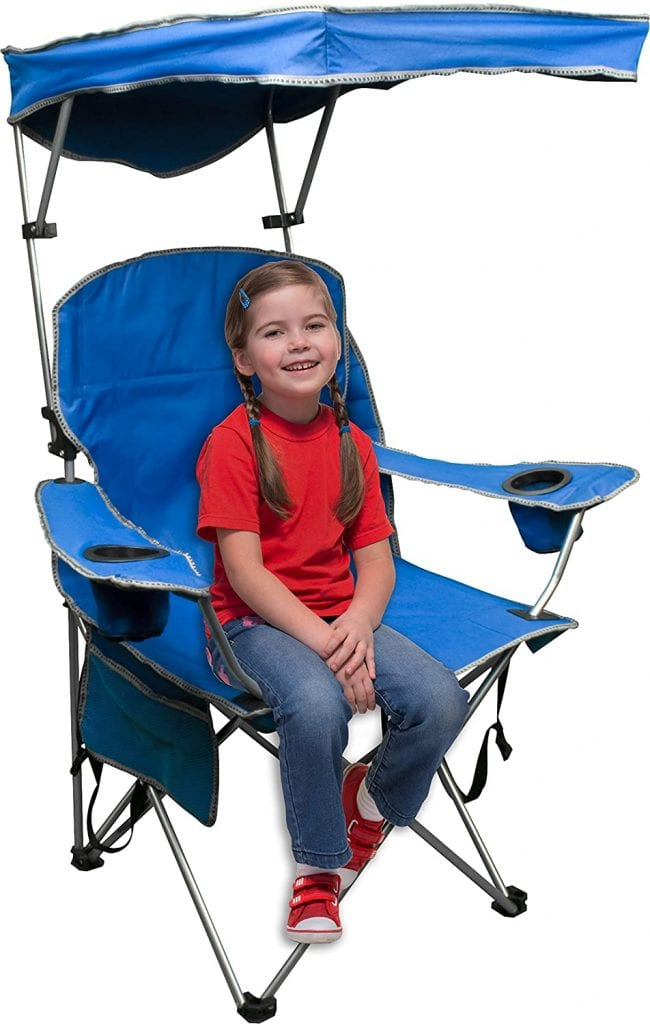 Quick Shade Folding Adjusting Blue Canopy Chair