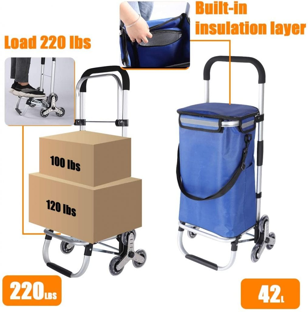 Scool Folding Stair Climbing Trolley for Shopping