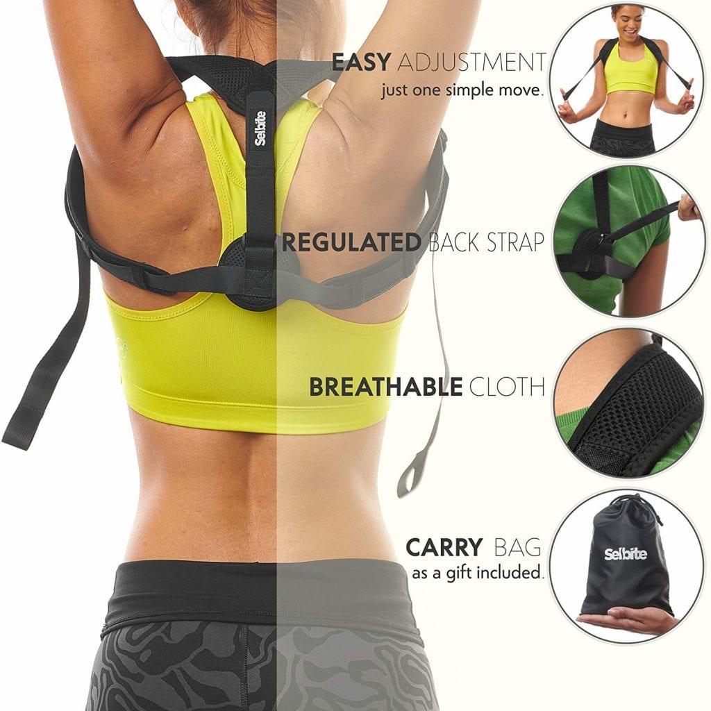 Selbite Adjustable Back Straightener