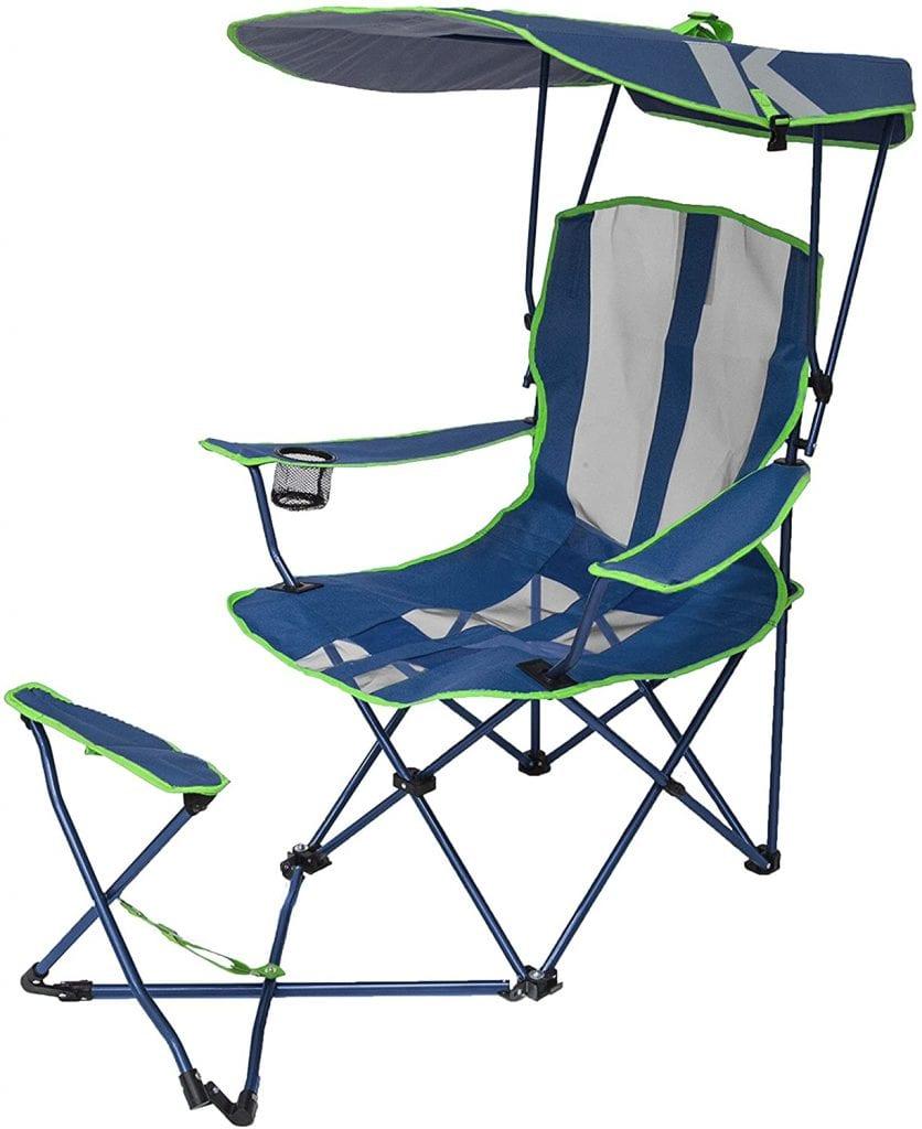 SwimWays Canopy Chair Navy Blue Original With Single Ottoman