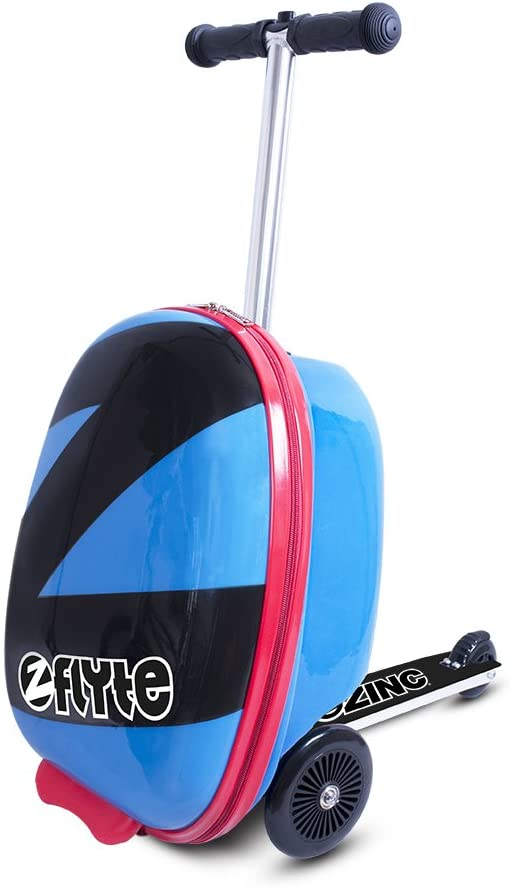 ZincFlyte Kid's Pacific Blue Luggage Scooter