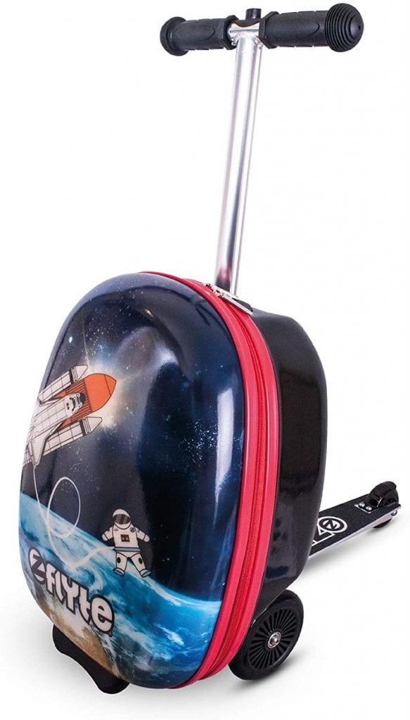 ZincFlyte Kids Stephen the Spaceman Luggage Scooter