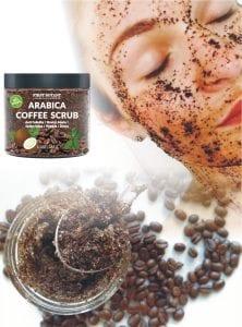 100% Natural Arabica Coffee Scrub with Organic Coffee