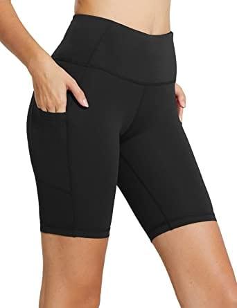 BALEAF Running High Waist Pockets Running Or Biker Women Shorts