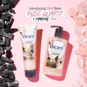 Bioré Rose Quartz with Charcoal Gentle Pore Refining scrub