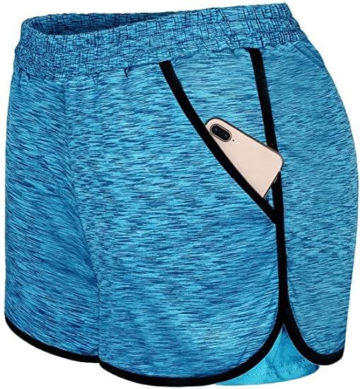 Blevonh Cozy Waist Band Running-Workout Women's Shorts