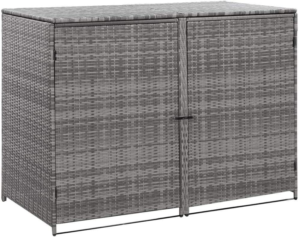 Canditree Outdoor Poly Rattan Storage Shed