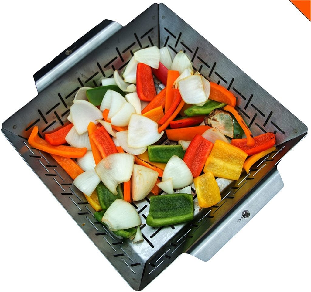 Cave Tools Non-Stick Stainless Steel Vegetable Grill Basket