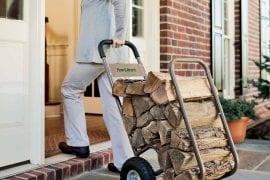 Firewood Log Carrier Cart