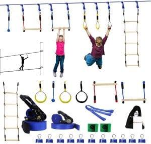 Gentle Booms Sports Ninja Warrior Line Obstacle Course