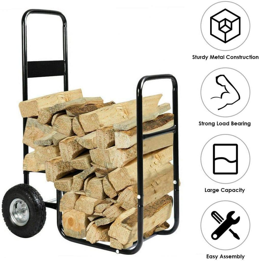 GoplusFirewood Log Cart Carrier