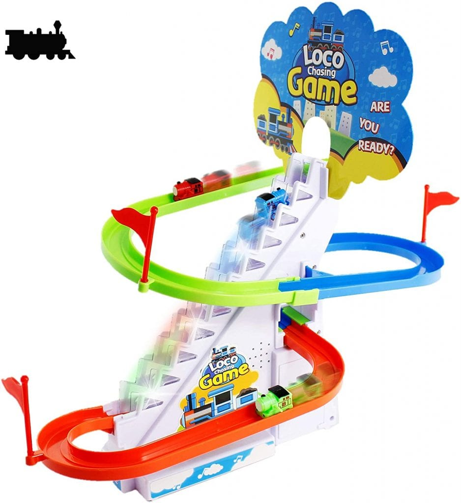 Haktoys Led Train Safe Set For Kids & Toddlers Playing Roller Coaster