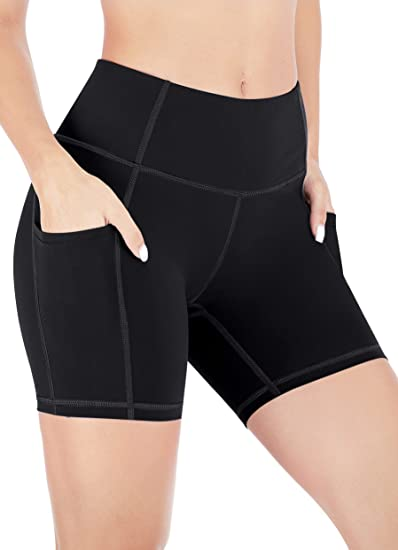 Heathyoga High Waist Shorts For Women With Pockets