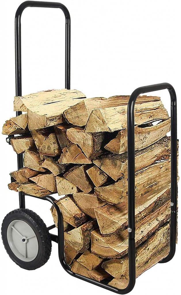 LEADALLWAY Firewood Log Cart Carrier