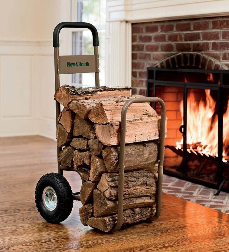 Plow & Hearth Firewood Log Carrier Cart