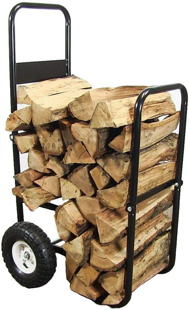 Sunnydaze Firewood Log Cart Carrier