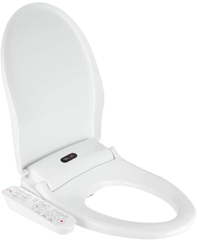 Trevi Rear Washing Design Sleek Nozzle Powerful Toilet Bidet Elongated Seat