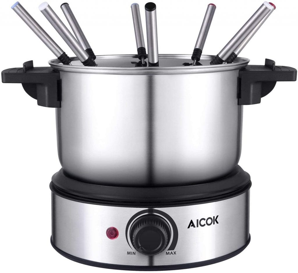AICOK Electric Fondue Pot Set