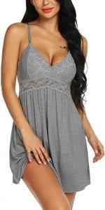 Ababoon Women Lace Modal Sleepwear