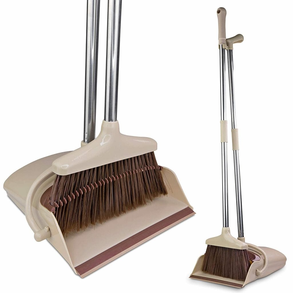 BELLEFORD Stand-Up Broom and Dustpan Set