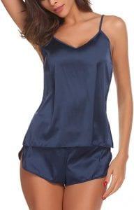 Ekouaer Sleepwear Womens Sexy Lingerie Satin Pajamas