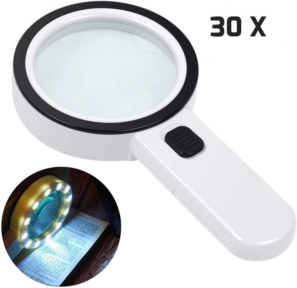 Magnifying HandHeld Glass with Light