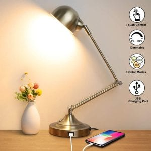 Mlambert LED Desk Lamp with USB Charging Port