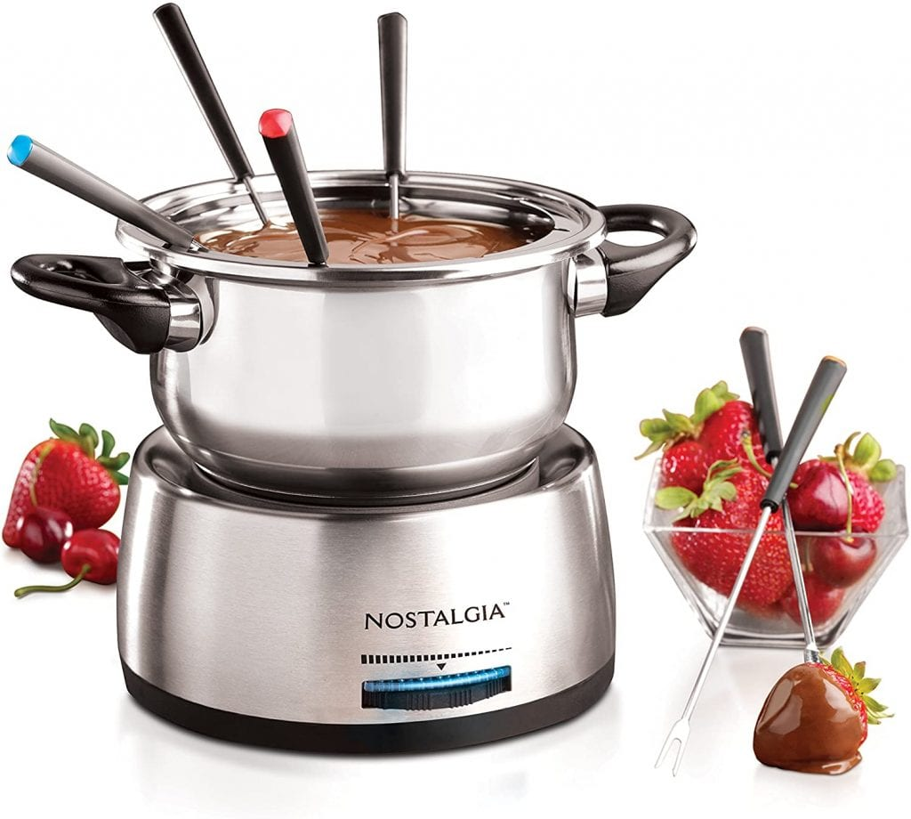 Nostalgia FPS200 6-Cup Fondue Pot with Color-Coded Forks