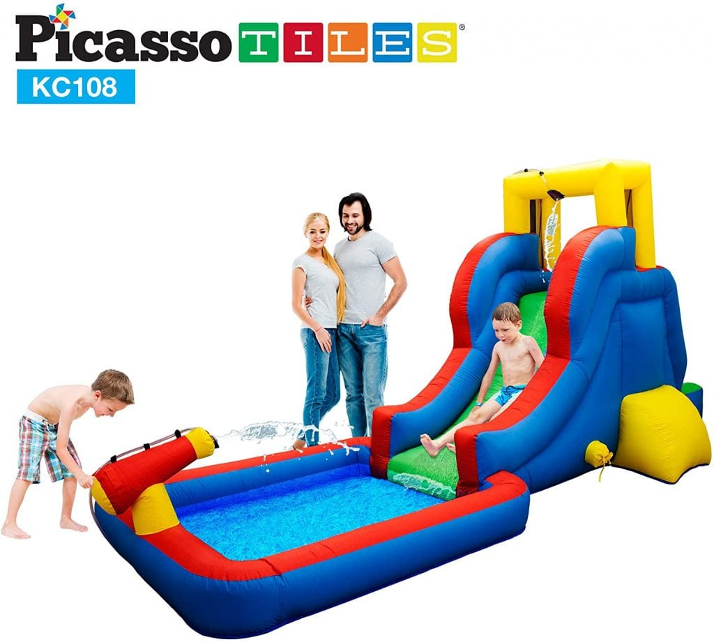 PicassoTiles KC108 Inflatable Water Slide Park