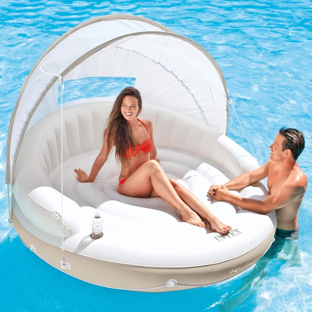 Visit The Intex Store Island Canopy Inflatable Lounge
