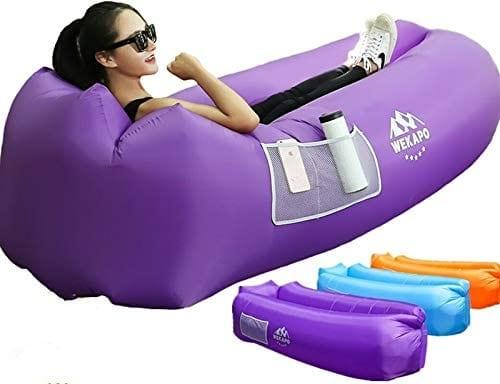 Visit The Weakpo Store Portable Hammock Waterproof Air Lounge Inflatable Sofa