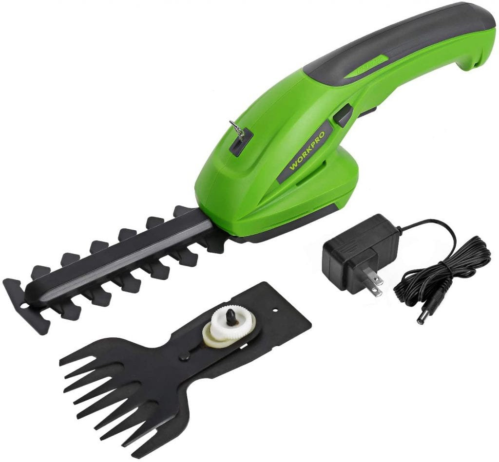 WORKPRO 7.2V Cordless Grass Shear + Shrubbery Trimmer