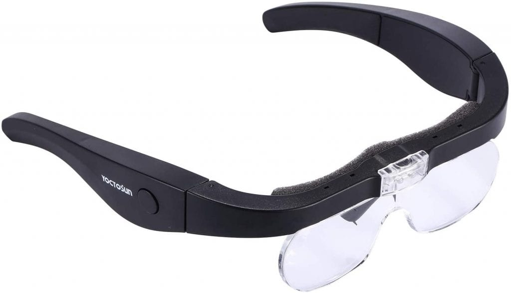 YOCTOSUN Rechargeable Head Magnifier Glasses