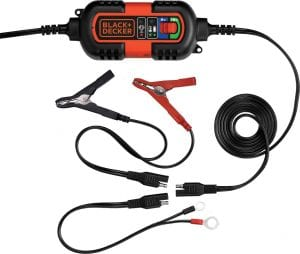 Black + Decker Battery Charger with Cable Clamps