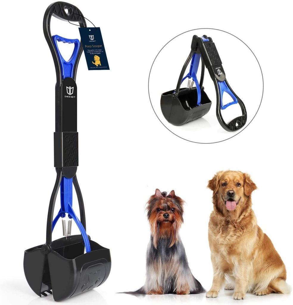Degbit Durable Long Handles Spring Non-Breaking Pet Pooper Scooper For Small Dogs