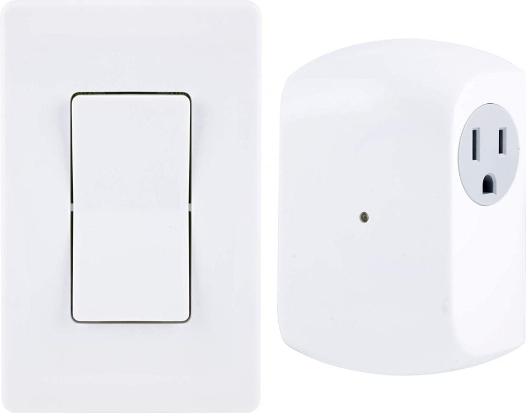 GE White Plug-In Wall No wire Remote Control Switch Appliance
