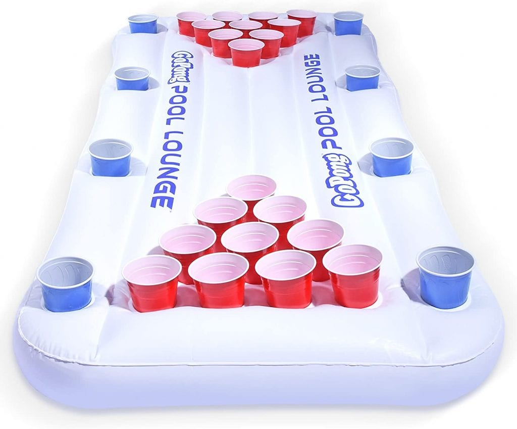 GoPong Pool Lounge Inflatable Beer Pong Table