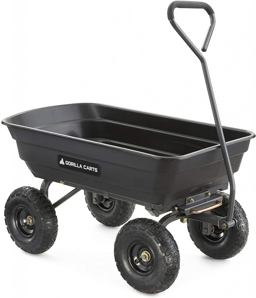 Gorilla Carts GOR4PS Dump Garden Cart