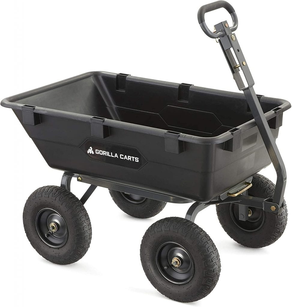 Gorilla Carts Heavy-Duty Dump Garden Cart GOR6PS